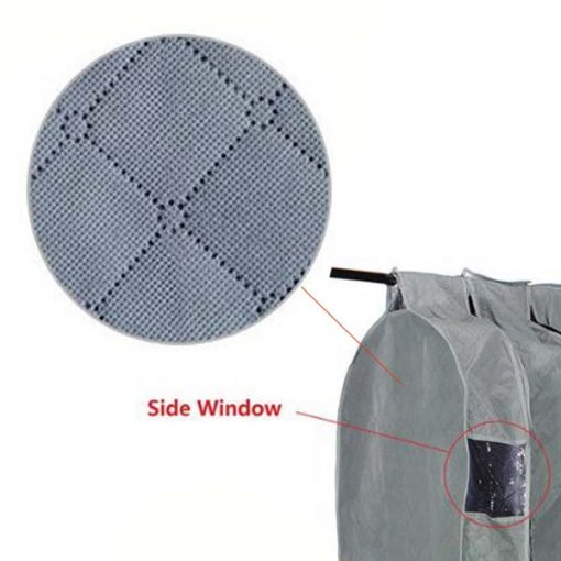 Clothes Hanger Cover Bag Garment Storage Size L - Grey