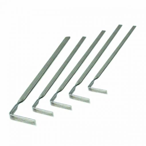 5 Pieces Tension Tool Lock Pick - Silver