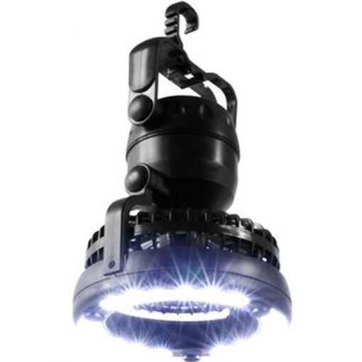 2 in 1 Rechargeable Outdoor Camping Led Light With Ceiling Fan - Black