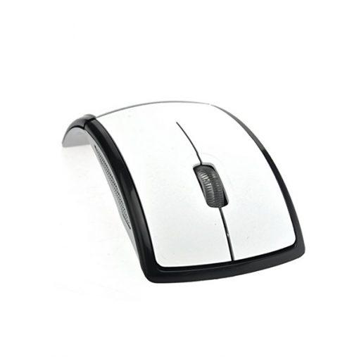 2.4GHz Wireless Folding Arc Mouse - White/Black