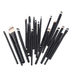 20 Pieces Makeup Brush Set - Black