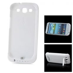2200mAh External Battery Pack with Stand for Samsung Galaxy S3 i9300 - White