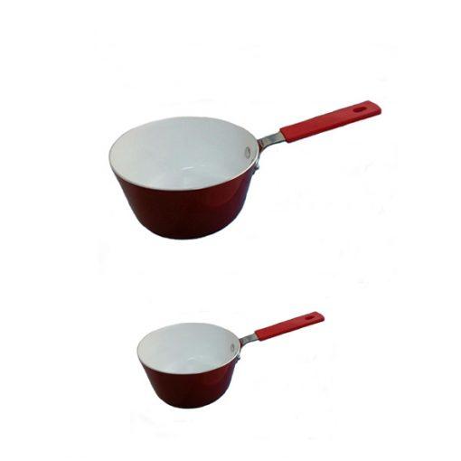 2 Pieces Sauce Pan - Red