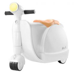2 in 1 Children Ride On Scootcase - White