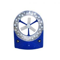 2 in 1 Rechargeable LED Lamp and Fan - Blue