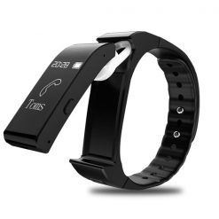 2 in 1 V6 Bluetooth Fitness Watch and Headset - Black