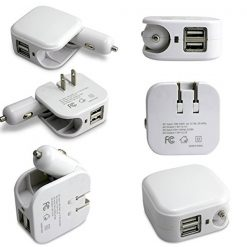 2 in 1 Car and Home Charger - White