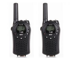 5km PMR 2 way Radio Walkie Talkie - Black