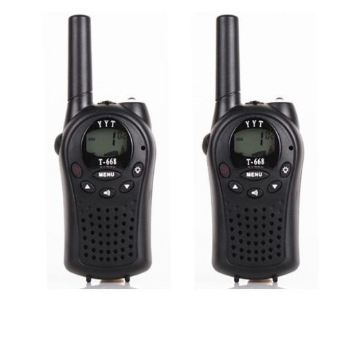 5km PMR 2 way Radio Walkie Talkie - Black