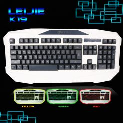 LEIJIE K19 Tri-color Backlit Gaming Keyboard  - White