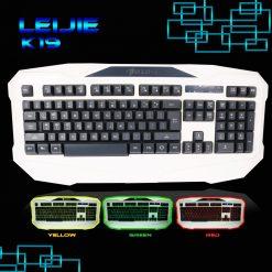 LEIJIE K19 Tri-color Backlit Gaming Keyboard  - White