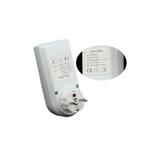 Hour Minute Week Timer Switch - White
