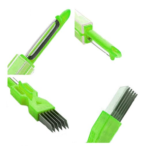 3 in 1 Onion Vegetable Cutter Slicer Peeler - Green