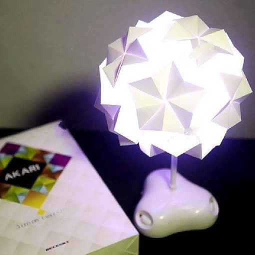 DIY 3 LED 8 Modes Paper Folding Table Lamp with Colorful Lights