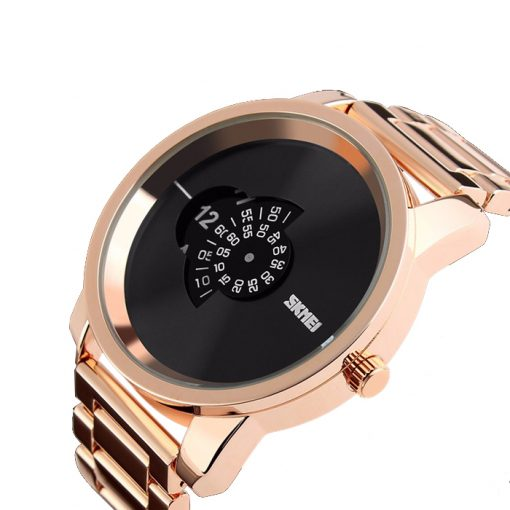 30 Meters Waterproof Digital Movement Watch - Gold