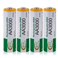 4pcs 1.2V 3000mAh Rechargeable AA Battery