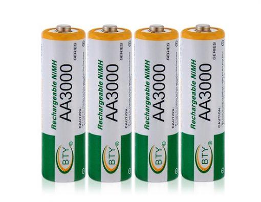 4pcs 1.2V 3000mAh Rechargeable AA Battery