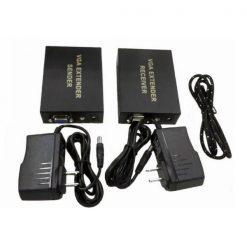 300 Meters VGA Extenders Sender And Receiver Set - Black