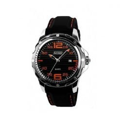 30M Waterproof Casual Watch - Black/Orange