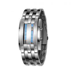30M Waterproof Binary Led Watch - Silver