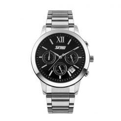 30M Waterproof Quartz Stainless Steel Watch - Black