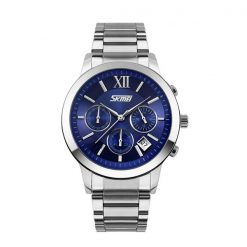 30M Waterproof Quartz Stainless Steel Watch - Blue