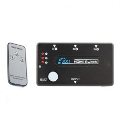 3 Port HDMI Switch With Remote Control - Black