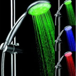 3 colors 5 Led Temperature Shower Head