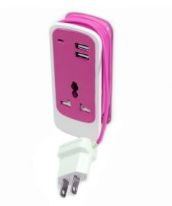 3 in 1 Dual USB Universal Socket - Pink