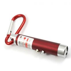 3 in 1 Led Flashlight Torch Keychain Red Laser Pointer - Red