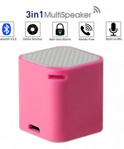 3 in 1 Smart Micro Bluetooth Speaker With Shutter And Anti Lost Function - Pink