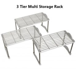 3 Tier Multi Storage Rack Holder - White