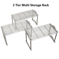 3 Tier Multi Storage Rack Holder - White