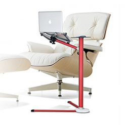 360º Rotating Adjustable Aluminium Laptop Stand Holder - Red