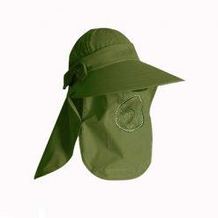 360 Degrees Sunscreen Summer Hat For Women - Green