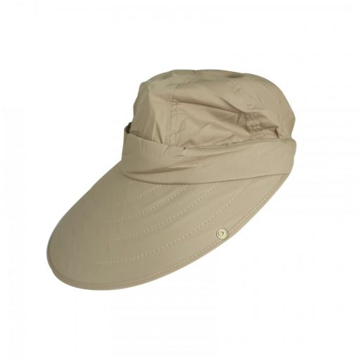 360 Degrees Sunscreen Summer Hat For Women UV Protection - Brown