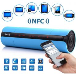 Multifunction Bluetooth NFC Speaker With FM And MP3 Player - Blue