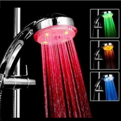 3 Colors Temperature Sensitive 15  LED Shower Head