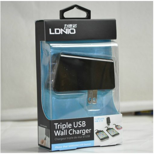 3 USB Ports USB 2.1A triple USB Wall Charge