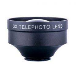Clip On 3x Telephoto Lens - Black