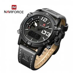 NAVIFORCE NF9095 Men Dual Movement Watch - Black