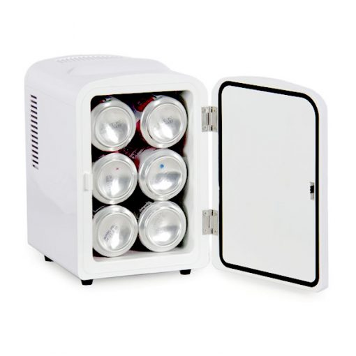 4 Liter Portable Personal Mini Fridge Ref Cooler Warmer For Car Home and Office - White