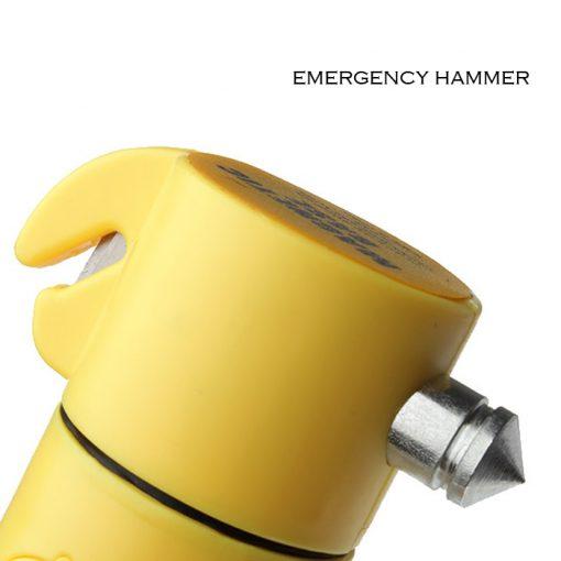 4 in 1  Multifuction  Car Emergency LED flashlight - Yellow