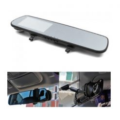 4.3 Inches High Definition LCD Car Black Rear View Mirror DVR - Black
