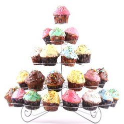 5 Layer 41 Cupcake Multitiered Metal Cupcake Stand