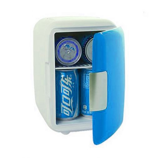 4 Liter Personal Mini Fridge Cooler and Warmer for Car and Home - Sky Blue