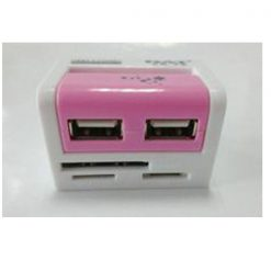 All In One USB 2.0 COMBO Card Reader - Pink