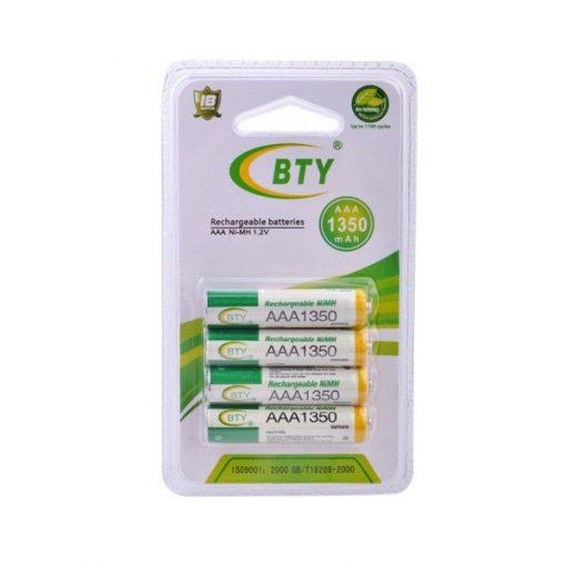 4pcs 1.2V 1350mAh Rechargeable AAA Battery