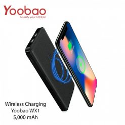 5,000 mAh Yoobao W5 Dual Output and Wireless Charging - Black