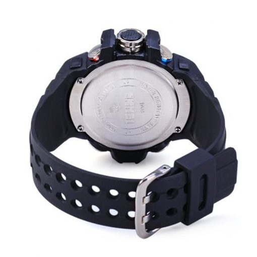 50M Waterproof Dual Model Watch With Compass - Black